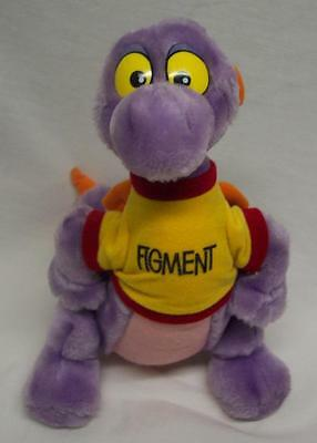 "Walt Disney Parks Epcot VINTAGE FIGMENT DRAGON 10"" Plush Stuffed Animal"