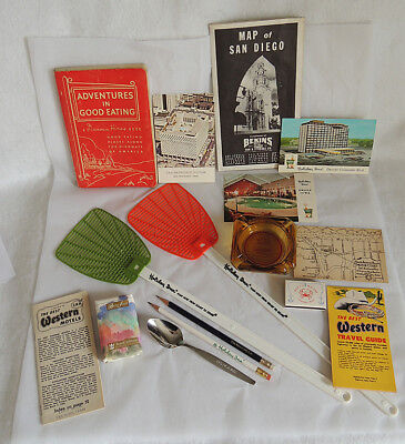 Vintage Advertising Mixed Lot 1940's-80's.. Travel Hotel.. Motel.. 16 Items