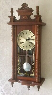 Vintage 'laurain; 31 Day Mahogany Striking Wall Clock - Working Order Vgc