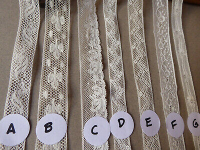 Vintage French Lace. Very Fine. 7 to choose from. Price per Metre