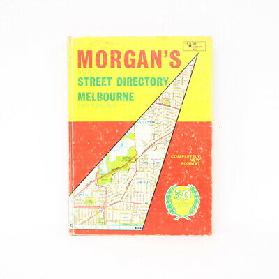 Morgan's Official Street Directory Melbourne  50th Anniversary Edition RARE #454