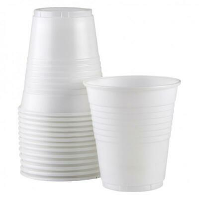 1000 Disposable Plastic Cups White Drinking Water Cup Party cups 200 ml