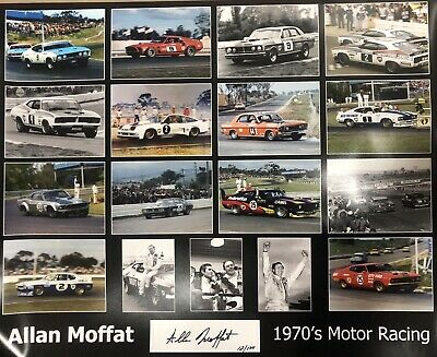 FORD Signed Allan Moffat large Limited edition Official  poster Falcon Mustang