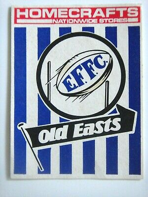1976 East Fremantle Homecrafts Wafl Club Sticker.