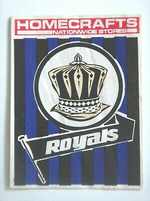 1976 East Perth Royals Homecrafts Wafl Club Sticker.
