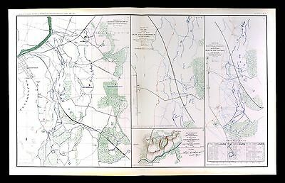 Civil War Map - Battle of Petersburg - Army of the Potomac Artillery Positions