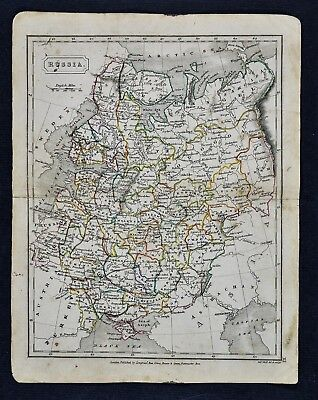c 1840 Sydney Hall Map - Russia in Europe - St. Petersburg Moscow Poland Ukraine