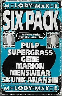 Various Six Pack CASSETTE PROMO Melody Maker Alternative Rock Brit Pop Indie EP