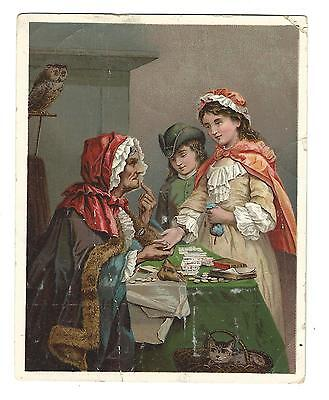 Old Trade Card Dr Jayne's Expectorant Tonic Gypsy Fortune Teller Long Lancaster