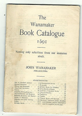 1891 John Wanamaker Book Catalogue Department Store Philadelphia Literature