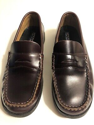 5e2e02e2def SPERRY TOP-SIDER COLTON Patent Leather Moc Toe Penny Loafer Black ...