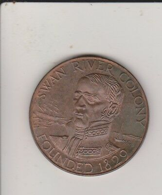 1979 Swan River Colony Medallion - 150 Years Anniversary - copper