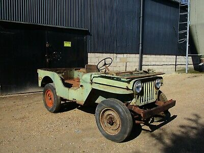 Willys CJ2A 1946 73 Year old Jeep Sat Decades. Rare Find.  Great project.