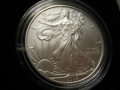 2008-W Burnished Silver American Eagle UNCIRCULATED 1 OUNCE
