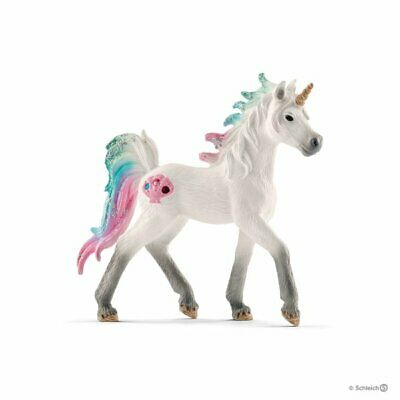 70572 Sea Unicorn foal horse Bayala The World of Elves Schleich <><