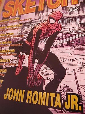 Sketch 22-Comic Art Magazine-John Romita Jr-Chuck Dixon-Comics-Spider-Man