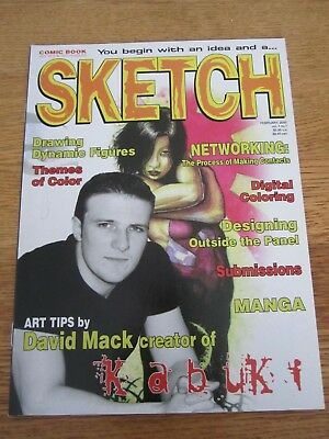 Sketch #1-Comics Art Magazine-David Mack-Kabuki-Manga