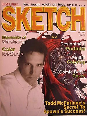 Sketch 2-Comic Art Magazine-Todd McFarlane-Comics-Spawn