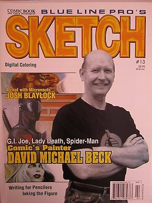 Sketch 13-Comic Art Magazine-David Michael Beck-Comics-Spider-Man-Lady Death