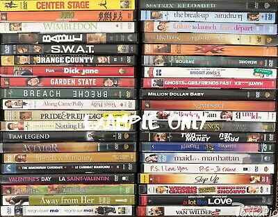Assorted Wholesale lot of 15 DVD's: Drama Action Comedy Movies