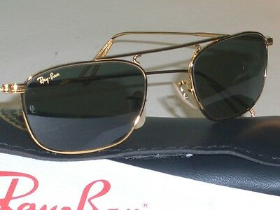 Vintage B&l Ray Ban Classic Metals Gold Plated G15 Slim Line Sunglasses New!