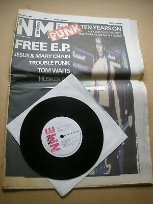 """NEW MUSICAL EXPRESS 1st February 1986 + free 7"""" single Punk Special Simply Red"""