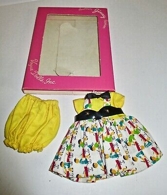 GINNY Outfit-School Children Pattern Dress-vinyl belt & bow tie, underwear-IOB