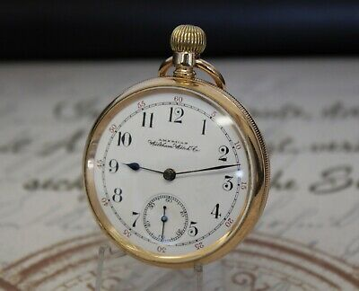 Rare WALTHAM MASS Taschenuhr 14 Ct K Gold Plate of Composite pocket watch