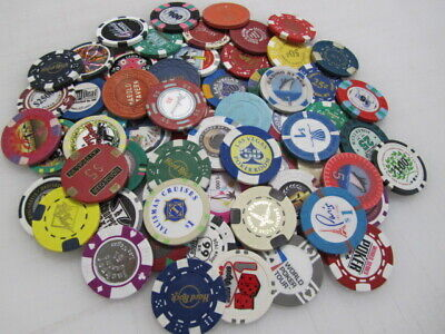 66 Casino Gaming Poker Chip Lot Las Vegas $1 New & Used Chipco Paulson Clay