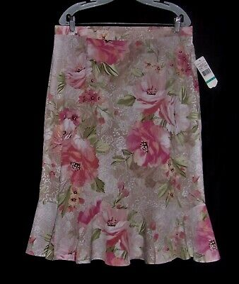 d216fff45a ALFRED DUNNER VINTAGE Skirt With Floral Pattern Size 16 - $11.00 ...