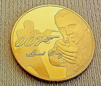 007 James Bond Gold Coin Naked Lady Daniel Craig Spy London Woman Films Finger