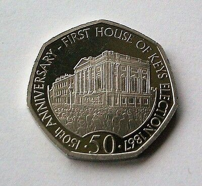 "2017 ""HOUSE OF KEYS"" ISLE OF MAN 50p COIN - *FREE P&P* - IoM MANX"
