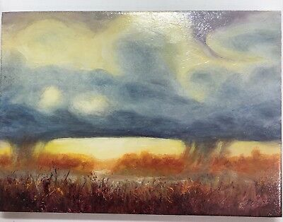 Original painting sunset clouds landscape realism fine Art direct from artist