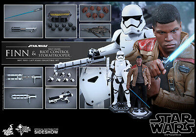 Hot Toys Star Wars Finn & Riot Control Stormtrooper 1:6 Figure Set ~Sealed~