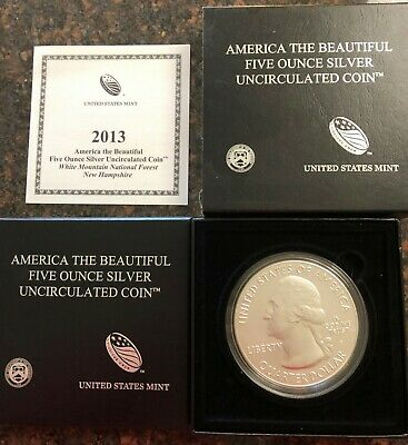 US Mint 5 oz. silver America the Beautiful 2013 coin