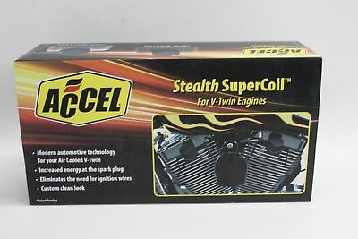 NEW ACCEL Stealth Supercoil Black Ignition Coils Aluminium Covers 140411BI