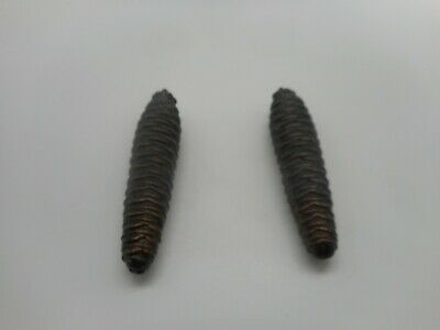 """Antique Pair Lot of 2 PINE CONE 4 1/2"""" CUCKOO Clock Weights"""