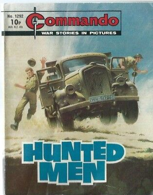 Hunted Men,commando War Stories In Pictures,no.1292,war Comic,1979