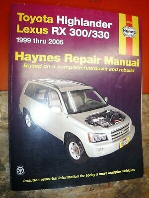 lexus rx 300 repair manual