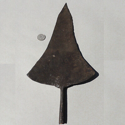 an old antique forged iron fer noir african currency congo #52