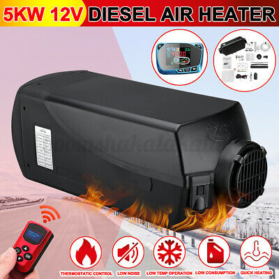 2KW 12V Air Diesel Heater LCD Remote Tank Vent Thermostat For Caravan Motorhome