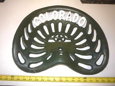 NEW OLD CASE TRACTOR CO   CAST IRON BAR STOOL SEAT  GRAND  DETOUR