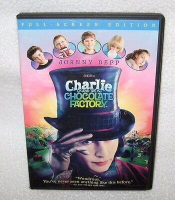 Charlie and the Chocolate Factory DVD VG