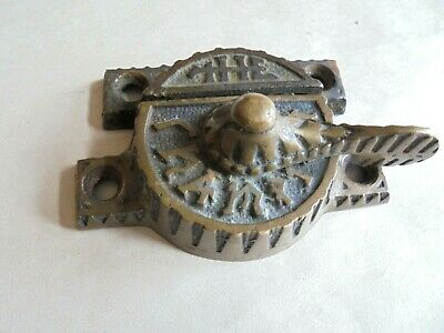 Antique Victorian Brass or Bronze The Champion Window Sash Lock