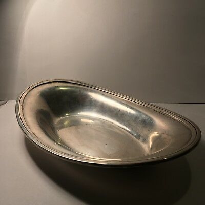 Antique Tiffany & Co. Makers Sterling Silver Bowl Tray - Heavy , 15.550 Ounces