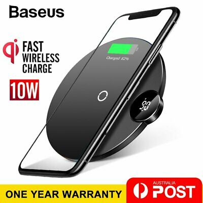 Baseus Qi Wireless Charger Fast Charging Pad for iPhone XS XR 8 Samsung S10 S9