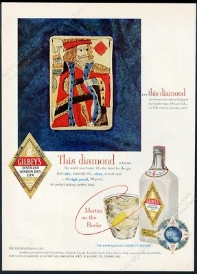 Arab World Gilbey/'s Gin London Dry Martini Tonic Vintage Poster Repro FREE S//H
