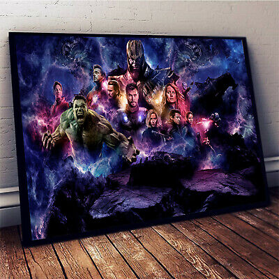 Superheroes Marvel Avengers End Game Horizontal Paper Poster Without Frame