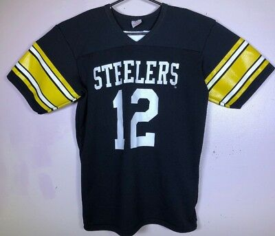 official photos 8f6fe 5de2c VINTAGE RAWLINGS PITTSBURGH STEELERS #12 TERRY BRADSHAW ...