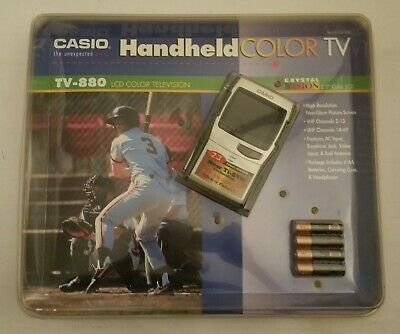 CASIO TV-880 Handheld Color LCD TV Television RARE SEALED